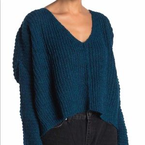 NWT Free People Moonbeam V-Neck Sweater